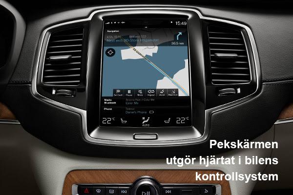 Volvo XC90 pekskärm